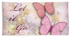 Let It Go Beach Sheet by Nina Bradica