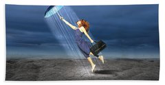 Beach Towel featuring the mixed media Let It Rain by Marvin Blaine