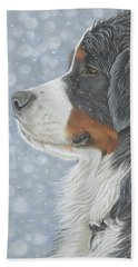 Beach Towel featuring the painting Let It Snow by Donna Mulley