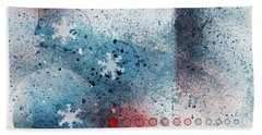 Let It Snow Beach Towel