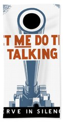 Let Me Do The Talking Beach Towel