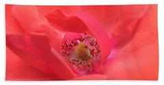 Let My Heart Bloom In Thy Love As A Rose Beach Towel