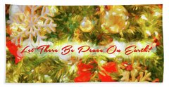 Let There Be Peace On Earth 2 Beach Sheet
