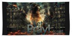 Let Us Pray-2 Beach Sheet