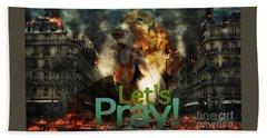 Let Us Pray Beach Towel