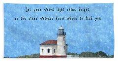 Let Your Weird Light Shine Bright Beach Towel