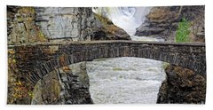 Beach Sheet featuring the photograph Letchworth Lower Falls by Charline Xia