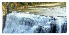 Letchworth State Park Middle Falls Autumn Beach Sheet