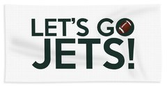 Let's Go Jets Beach Towel