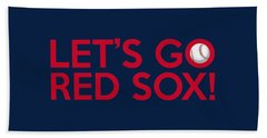 Let's Go Red Sox Beach Sheet