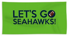 Let's Go Seahawks Beach Sheet