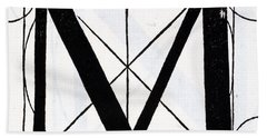 Letter M Beach Towel