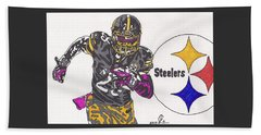 Le'veon Bell 2 Beach Sheet by Jeremiah Colley