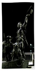 Lewis And Clark Arrive At Laclede's Landing Beach Towel by Kelly Awad