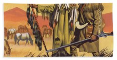 Lewis And Clark Expedition Scene Beach Towel