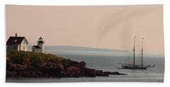 Lewis R French At The Curtis Island Lighthouse Beach Towel