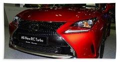 Lexus Rc Turbo Beach Towel
