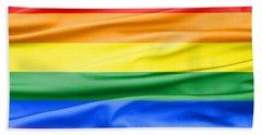 Lgbt Rainbow Flag Beach Sheet
