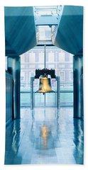 Liberty Bell Hanging In A Corridor Beach Towel