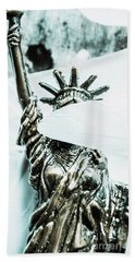 Liberty Blinded By Corruption Beach Towel