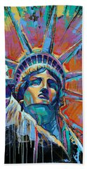 Liberty In Color Beach Sheet by Damon Gray