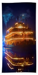Beach Towel featuring the photograph Liberty Square Riverboat by Mark Andrew Thomas