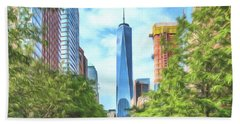 Liberty Tower Beach Towel