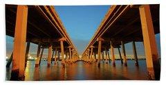 Licata Bridges In Tampa Beach Towel