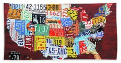 License Plate Map Of The United States Custom Edition 2017 Beach Towel