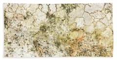 Beach Towel featuring the photograph Lichen On A Stone, Background by Torbjorn Swenelius