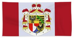 Beach Towel featuring the drawing Liechtenstein Coat Of Arms by Movie Poster Prints