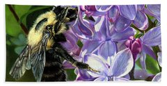 Life Among The Lilacs Beach Towel