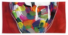 Life Is Colorful - Art By Linda Woods Beach Towel