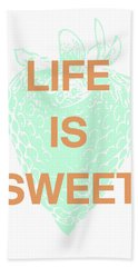 Life Is Sweet- Art By Linda Woods Beach Towel