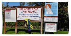Life Jackets Float Beach Sheet