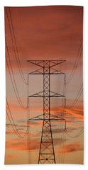 Life On The Grid Beach Towel