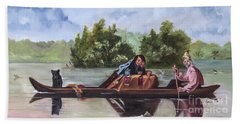 Life On The Missouri River Beach Towel