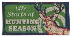 Life Starts Hunting Season Beach Sheet