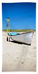 Lifeboat And Oars Beach Towel