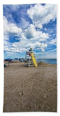 Lifeguard At Pike's Beach Beach Towel