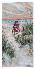 Lifeguard Chair And Dunes Beach Sheet