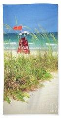Beach Sheet featuring the photograph Lifeguard Georgia by Linda Olsen