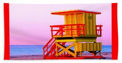 Lifeguard Stand Miami Beach Beach Towel