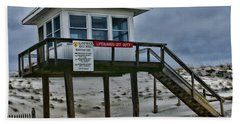 Beach Towel featuring the photograph Lifeguard Station 1 by Paul Ward