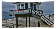 Beach Towel featuring the photograph Lifeguard Station 2  by Paul Ward