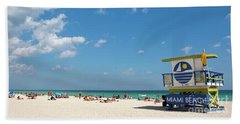 Lifeguard Station Miami Beach Florida Beach Sheet