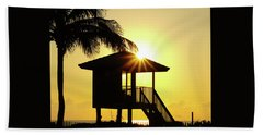 Lifeguard Station Sunburst Delray Beach Florida Beach Towel