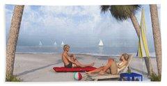 Beach Towel featuring the digital art Life's A Beach by Jayne Wilson