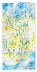 Light And Love Beach Sheet
