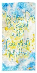 Light And Love Beach Towel
